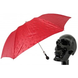 Parasol Pasotti Red Folding with Black Skull Handle, 64 PRT W33ne