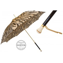 Parasol Pasotti Tiger-Striped with Swarovski Handle, 460 1409-61 S9