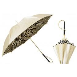 Parasol Pasotti Ivory with Zebrine Interior, podwójny materiał, 189 21028-55 S