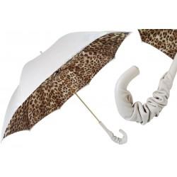 Parasol Pasotti Leopard Print White, podwójny materiał, 189 52417-11 A35