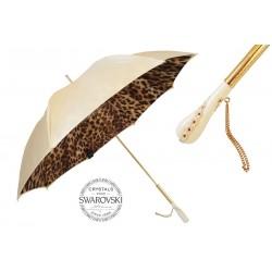 Parasol Pasotti Creamy-White Leopard Print, podwójny materiał, 189 52417-11 Z5