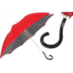 Parasol Pasotti Bright Red Polka Dots, podwójny materiał, 189N 55874-1 U18