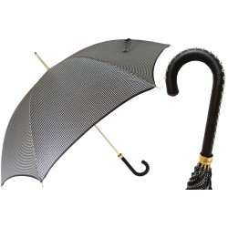 Parasol Pasotti Pied de Poule with Studded Leather Handle, 16 1408-19 H19