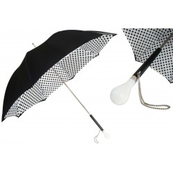 Parasol Pasotti Black and White Polka Dots, podwójny materiał, 189N 55874-2 Z6