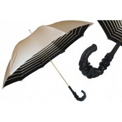 Parasol Pasotti Ivory with Striped Interior, podwójny materiał, 189 21285-1 A35