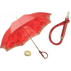Parasol Pasotti Red Dahlia, podwójny materiał, 189 21065-21 A