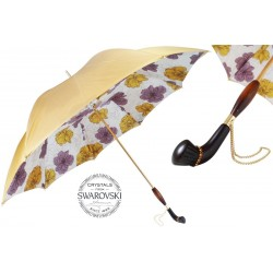 Parasol Pasotti Vintage with Flowers, podwójny materiał, 189 5E358-6 Z1