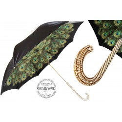 Parasol Pasotti Swarovski Handle and Double Cloth Peacock, 189 Hawaii D35