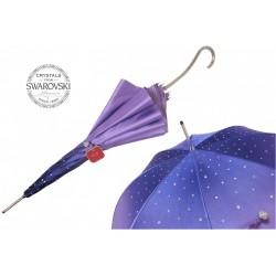 Parasol Pasotti Purple Swarovski, podwójny materiał, 185N 21284-14 S13