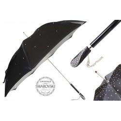 Parasol Pasotti Black Swarovski, podwójny materiał, 185N Plat-34 S8